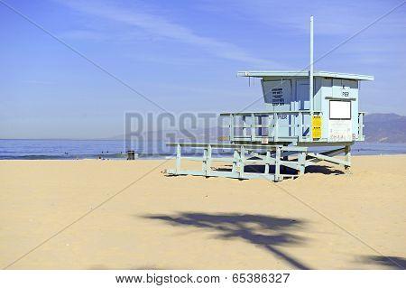 Lifeguard Stand in the sand, Venice Beach, California