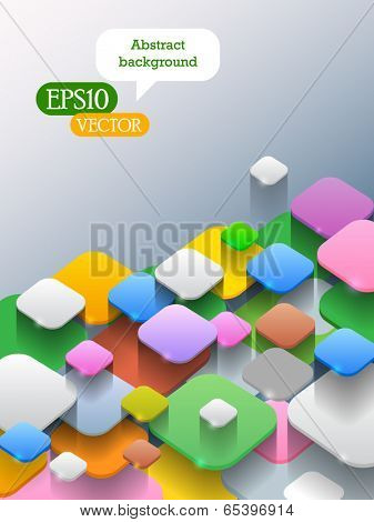 Abstract background with blocks