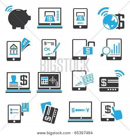 internet banking icons