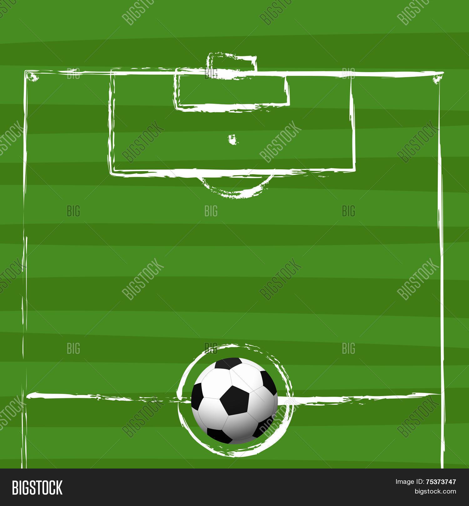 Football Field Grunge Vector Photo Free Trial Bigstock