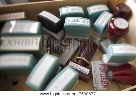 Box Of Rubber Stampers