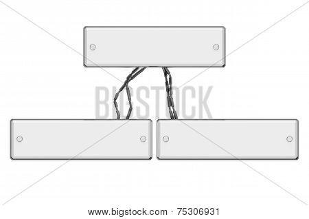 Modern White Glossy Sign