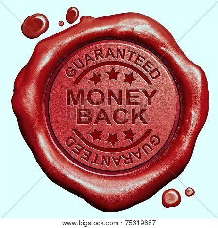 money back guaranteed red wax seal stamp 100% satisfaction customer service
