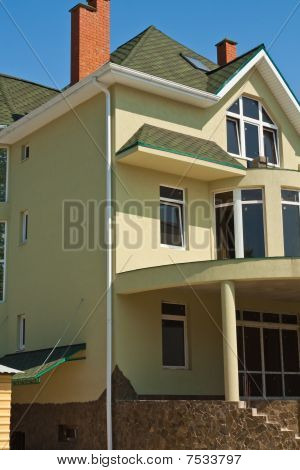 Only the constructed new big private house three floors