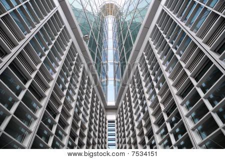 Modern Building Glass Symmetric Lines