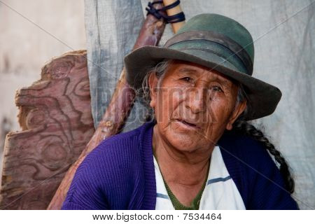 Saleswoman on Market, South America