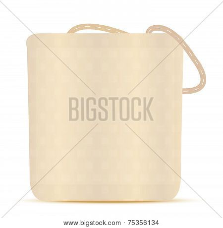 Illustration - Grocery Bag, Canvas Tote Reusable