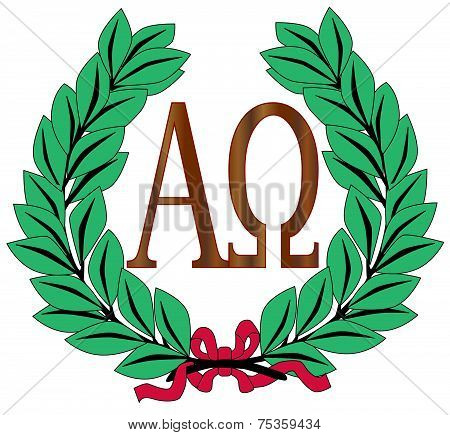 Alpha To Omega Wreath