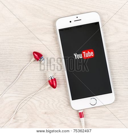 Youtube Application On An Iphone 6 Plus Display