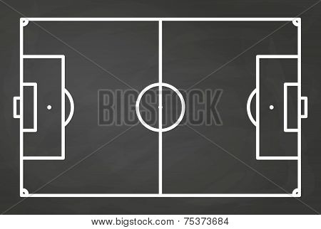 Football Field Blackboard Background - Vector Illustration