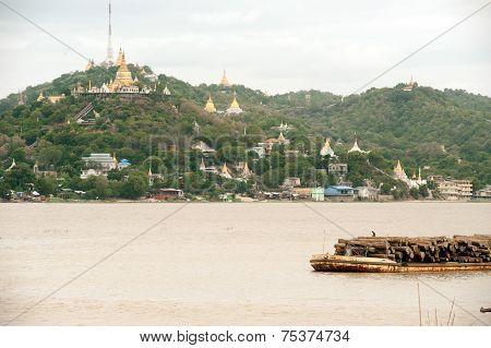 View Of Sagaing Hill,myanmar.
