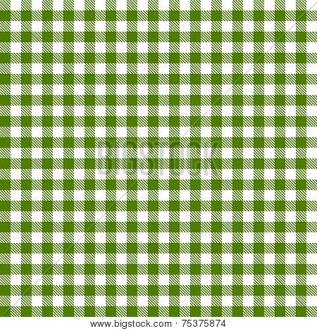 Checkered Tablecloths Pattern - Endless - Green poster