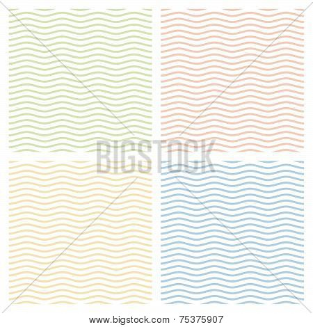 Collection Of Multicolored Waves Background - Endless poster