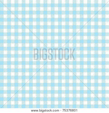 Checkered Tablecloths Pattern - Endless - Light Blue