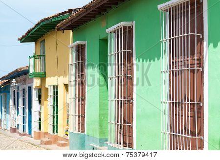 Colonial Houses In Trinidad,cuba