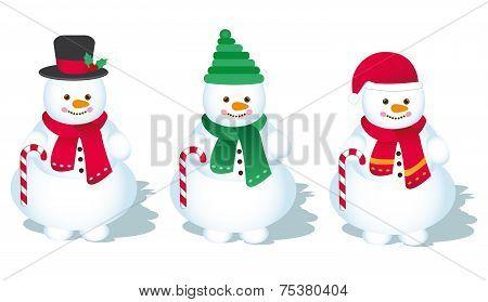 Vector, Snowman - Illustration
