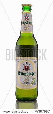 One Bottle Of Königsbacher Pilsner Beer