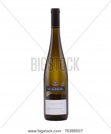 One Bottle Of Semi-dry White Wine Nederburg Riesling Vintage 2010