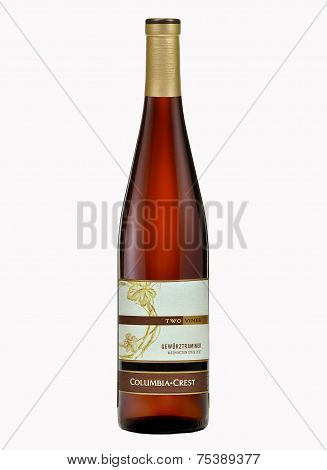 One Bottle Of Dry White Wine Two Vines Gewurztraminer 2007