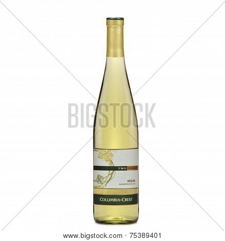 One Bottle Of Dry White Wine Two Vines Riesling 2009