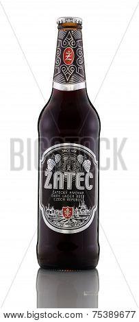 One Bottle Of Dark Lager Beer Zatec Dark
