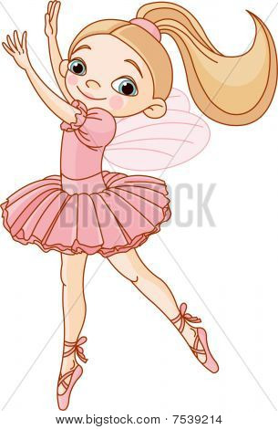A little fairy ballerina