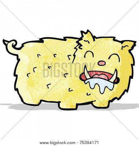 cartoon slobbering beast