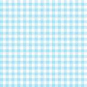 Checkered Tablecloths Pattern - Endless - Light Blue poster
