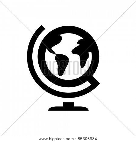 Geography globus icon poster