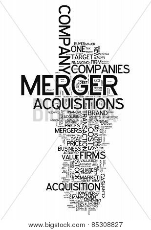Word Cloud with Merger & Acquisitions related tags poster