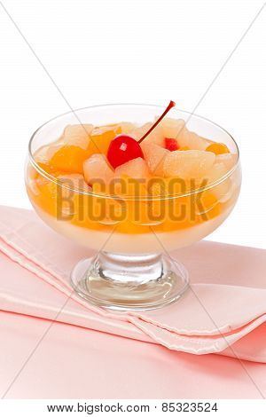 Fruit Cocktail With Almond Jelly
