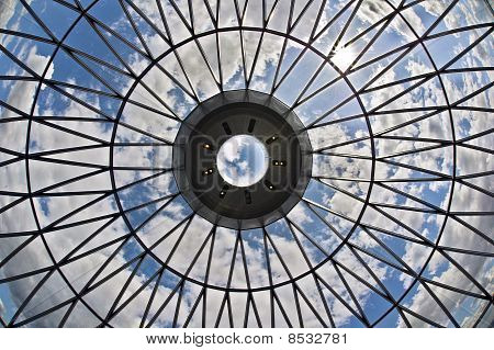 Looking At The Sky Through A Glass Ceiling