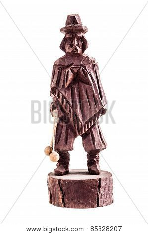 Wooden Statuette Of A Gaucho