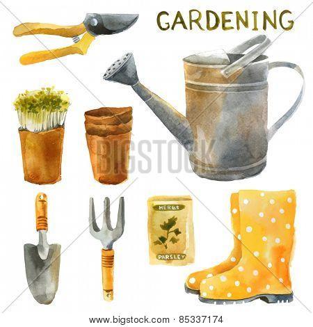 watercolor gardening set