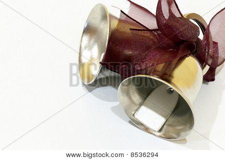 Wedding bells on white background