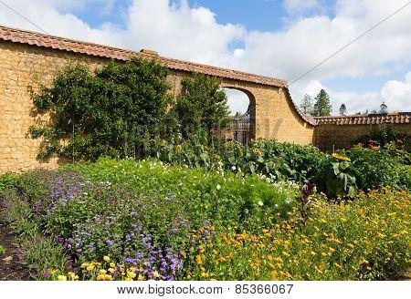 Gardens at Barrington Court near Ilminster Somerset England uk Tudor manor house