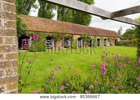 Stable Barrington Court near Ilminster Somerset England uk Tudor manor house