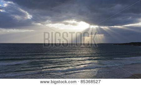 Moody Sky Above Seascape