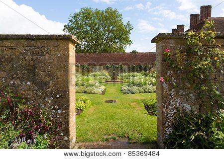 Gardens and grounds of Barrington Court near Ilminster Somerset England uk Tudor manor house