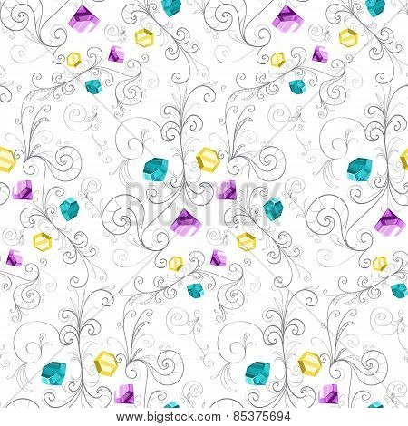Elegant diamonds texture. Vector illustration.