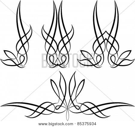 Pinstripe Graphics : Vinyl Ready Vector Art
