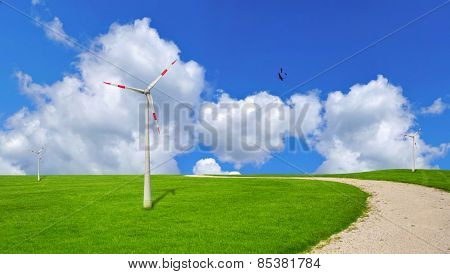Wind turbine, ecology