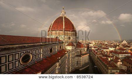 Florence Duomo Two Rainbows