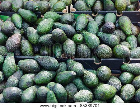 Avocados On Display At Market