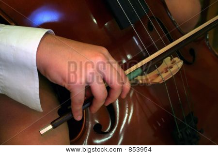 Close up of a cello player