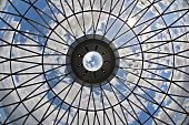 Looking at the sky through the dome of a skyscraper -- the proverbial glass ceiling? poster