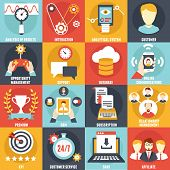Set of Customer Relationship Management Icons - vector icons poster