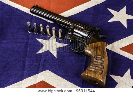 Gun on Flag