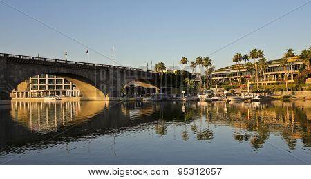An Early Morning London Bridge Shot, Lake Havasu City