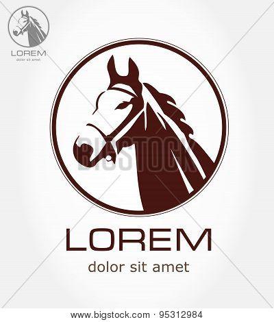 Horse symbol. Vector illustration.